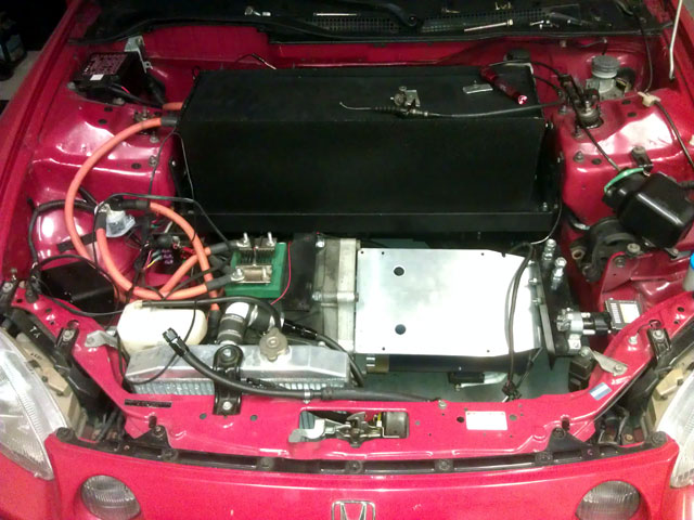 HPEVS AC-51 motor installed in car