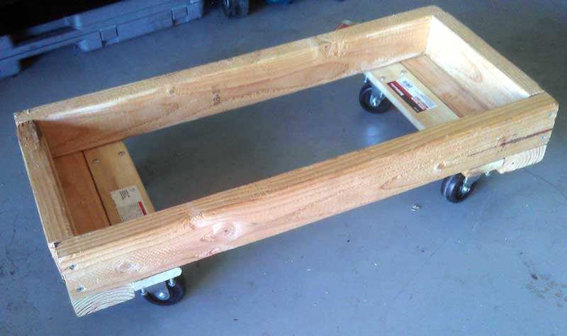 EV battery shop cart