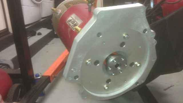 Warp9 motor aluminum adapter plate