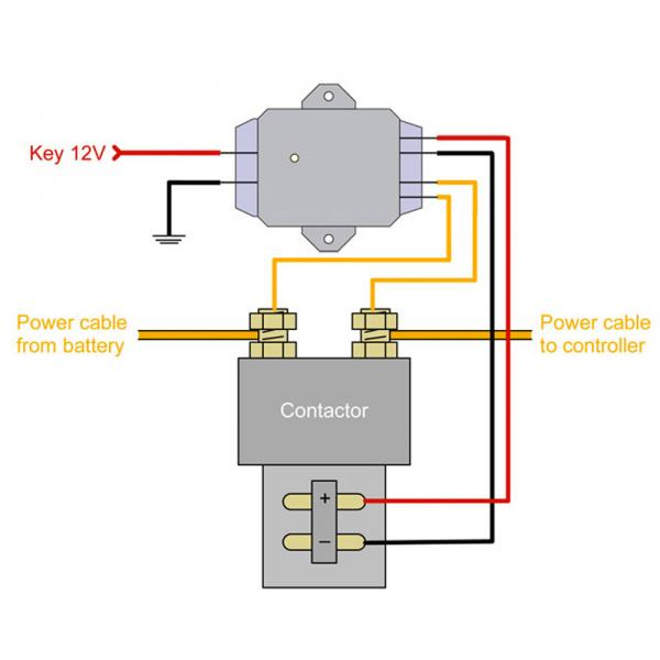 AC motor precharge circuit diagram